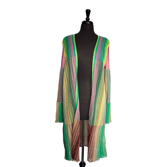 28eae1509a Missoni Gold and Multi Colored Knit Cardigan NWT